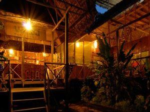 Nightfall Wasaí Tambopata Amazon Rainforest Lodge Peru